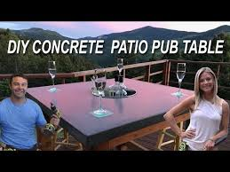 how to make a concrete patio pub table