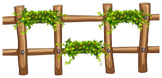 Wooden Fence With Plant Decoration Download Free Vectors Clipart Graphics Vector Art