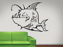 Fish Deep Dweller Funny Wall Decal Fish Wall Decal Sticker Nuovocreations