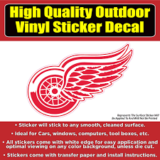 Detroit Red Wings Hockey Vinyl Car Window Laptop Bumper Sticker Decal Ebay