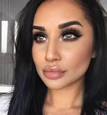 dark hair and dark eyes cat eye makeup