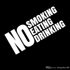 2020 18 7 5cm No Smoking Eating Drinking Sticker For Taxi Cab Window Business Door Vinyl Decal Car Sticker Black Silver Ca 1268 From Zhangchao188 0 34 Dhgate Com