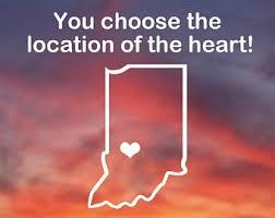 Indiana University Decal Etsy