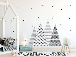 Nursery Wall Decals Mountain Wall Decal Triangle Wall Etsy
