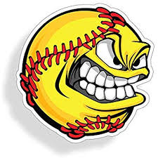 Amazon Com Angry Softball Face Sticker Die Cut Vehicle Car Truck Laptop Custom Printed Decal Back Glass Window Bumper Graphic Everything Else