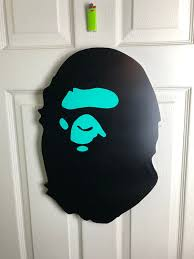 Bape A Bathing Ape Nigo Og Logo Artwork Poster Bape Wall Fashion Hypebeast Streetwear Supreme In 2020 Bape Art Picture Hanging Hook Bape