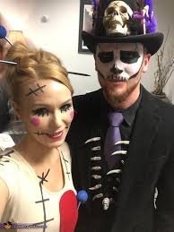 voodoo doll and her voodoo king costume