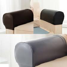 2pc set pu leather sofa armrest covers