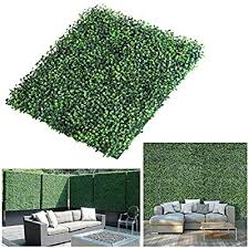 Qfeng Realistic Thick Artificial Hedge Boxwood Fence Privacy Screen Panels 20 X20 6 Pack Uv Protection Fresh Faux Foliage Backdrop Wall Decor For Indoor Outdoor Fake Hedge Plants Buy Online At Best
