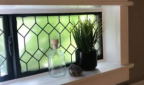 diy faux leaded glass window urban