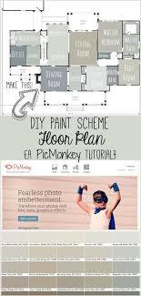 create a paint scheme floor plan a