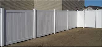 Unique Fencing White Vinyl Privacy Fence