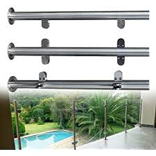 Amazon Com Nopteg 43 Glass Railing Post 304 Stainless Steel Glass Clamp Post Glass Panels Deck Railing System Glass Fence Panels Glass Railing Hardware Glass Stair Railing System 43 110cm High Home Kitchen
