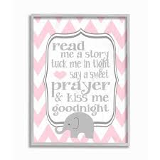 Shop The Kids Room By Stupell Read Me A Story Elephant In Pink Chevron Grey Framed 11 X 14 Proudly Made In Usa 11 X 14 Overstock 30337031