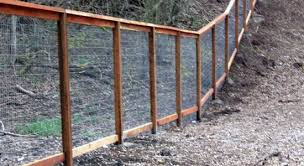 Http Www Sierrafence Com Wp Content Uploads 2012 07 Wire Fence 1 Jpg Sloped Yard Backyard Fences Wire Fence