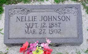 Nellie Johnson Tombstone at Pleasant Hill Cemetery