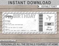 Birthday Boarding Pass Gift Ticket Regalos Personalizados