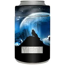 Skin Decal Vinyl Wrap For Yeti Rambler Colster Stickers Skins Cover Cup Howling Wolf Moon Walmart Com Walmart Com