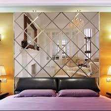 3d Diamond Shaped Mirror Wallpaper Paste Wall Acrylic Background Living Room Backdrop Wall Ceiling Restaurant De Diy Wall Decals Wall Decor Bedroom Mirror Wall