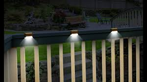 Solar Lights For Fence Deck Set Of 3 Youtube Nike Ultra Comfort Thong Bike Rack Suv Backpack Outdoor Gear Amazon Round Posts Expocafeperu Com