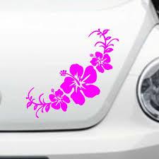 Car Decal Hawaiian Hibiscus Flowers 20 X8 5 Vinyl Headlight Hood Rear Trunk Sticker Cg231 2pcs Headlight Sticker Stickers Stickersflower Car Sticker Aliexpress