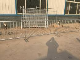 42 Microns Hot Dipped Galvanised Steel Plate Foot Full Hdg D Crowd Control Barriers For Sale Temporary Chain Link Fence Manufacturer From China 108084431