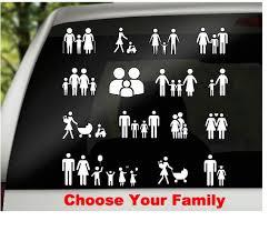 Family Car Decal Car Window Decal Vinyl Car Family Family Etsy