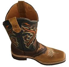 genuine cow hide leather cowboy boots