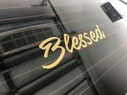 6 Inch Gold Christian Bible Blessed Vinyl Decal Car Window Laptop Jesus Sticker Ebay