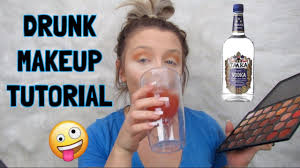 drunk makeup tutorial black out drunk