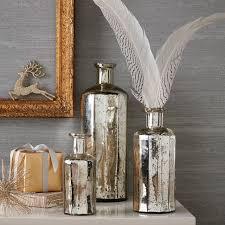 mercury glass bottle vases