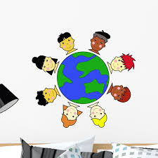 Multicultural Kids United Earth Wall Decal By Wallmonkeys Peel And Stick Graphic 24 In W X 23 In H Wm218859 Walmart Com Walmart Com