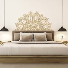 Headboard Wall Decal Sticker Uk For Bedroom Design White Fake Faux Twin Interior Vamosrayos