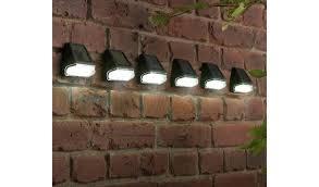 Buy Argos Home Set Of 6 Black Solar Fence Lights Solar Lighting Argos