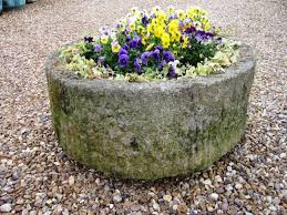 antique stone troughs and cast iron