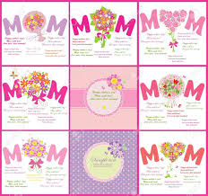 Tarjetas Para Mama Ilustraciones Vectoriales Clip Art Vectorizado
