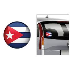 Cuban Flag Decal 4 1 2in Party City
