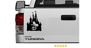 Amazon Com Disney Castle Black Vinyl Walt Vinyl Decal Car Window Sticker Mickey Mouse Hat Minnie Mouse Fans Princess World Walt 5 1 X 5 3 Black Automotive