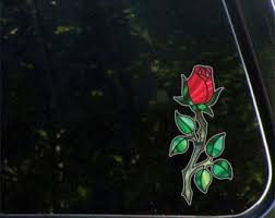 Rose Decal Etsy