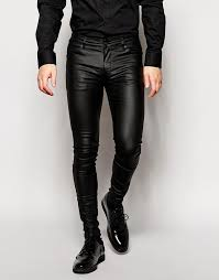 super skinny jeans in leather look