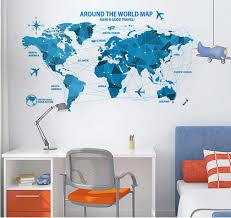 World Map With Countries Decal Decal Map Of The World Best World Map Interactive Map Wall Decal Printable Map Collection