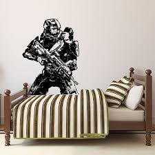 halo 4 master chief return vinyl wall