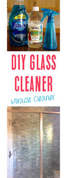 homemade glass cleaner with vinegar
