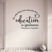 Benjamin Franklin Quote Wall Sticker Education Vinyl Wall Art Decal Home Decor Ebay