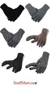 men s knitted gloves winter autumn male
