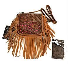 leather fringe purse power bank western