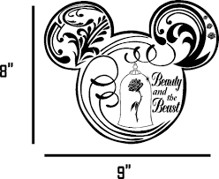 Beauty And The Beast Car Decal Vinyl Graphic Ebay Motors Parts Accessories Car Truck P Beauty And The Beast Silhouette Disney Decals Disney Silhouettes