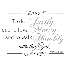 Micah 6 8 Scripture Vinyl Wall Art Divine Walls