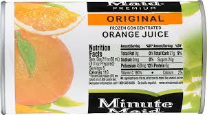 minute maid apple juice nutrition label