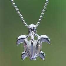cultured pearl turtle pendant necklace